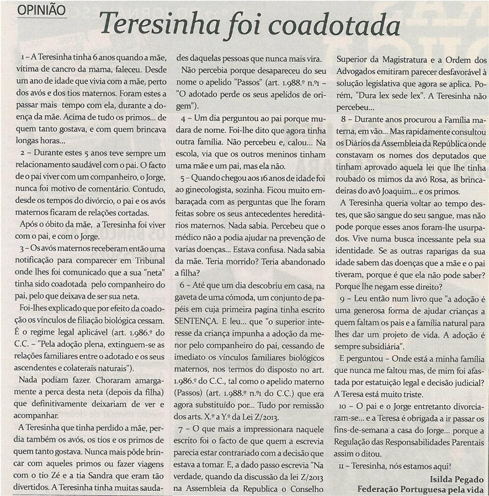 TV-jul13-p2-Teresinha foi coadotada