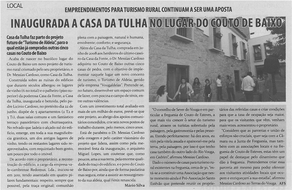 TV-jul13-p5-Inaugurada a Casa da Tulha no lugar de Couto de Baixo