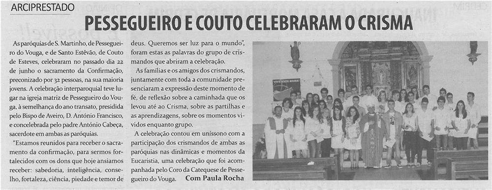 TV-jul13-p14-Pessegueiro e Couto celebraram o crisma