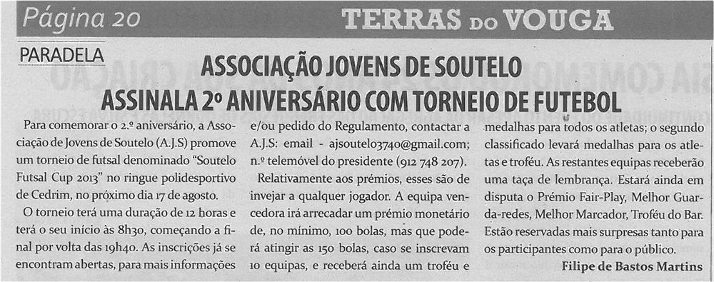 TV-ago13-p20-Associação Jovens de Soutelo assinala 2.º aniversário com torneio de futebol