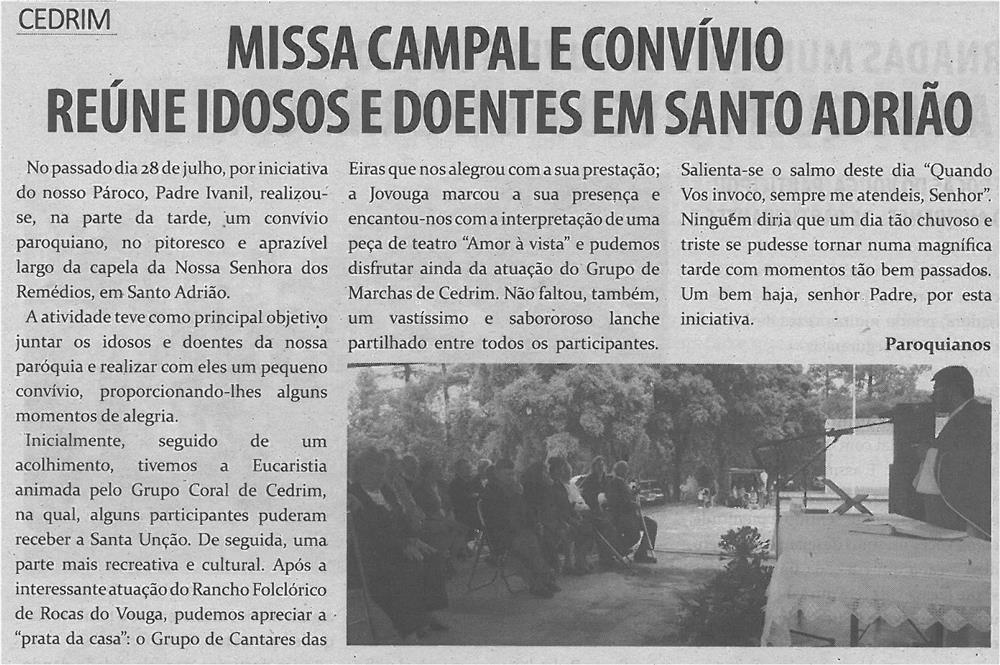 TV-set13-p9-Missa campal e convívio reúne idosos e doentes em Santo Adrião