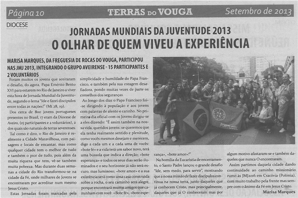 TV-set13-p10-Jornadas Mundiais da Juventude 2013