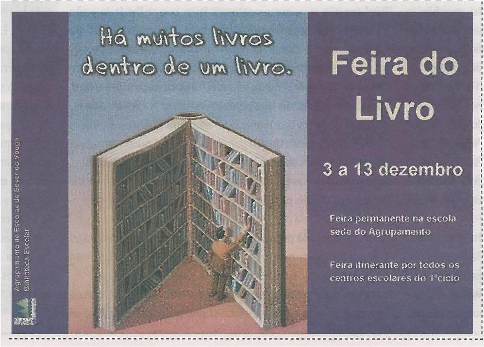 JE-dez13-p1-Feira do Livro : há muitos livros dentro de um livro : 3 a 13 de dezembro