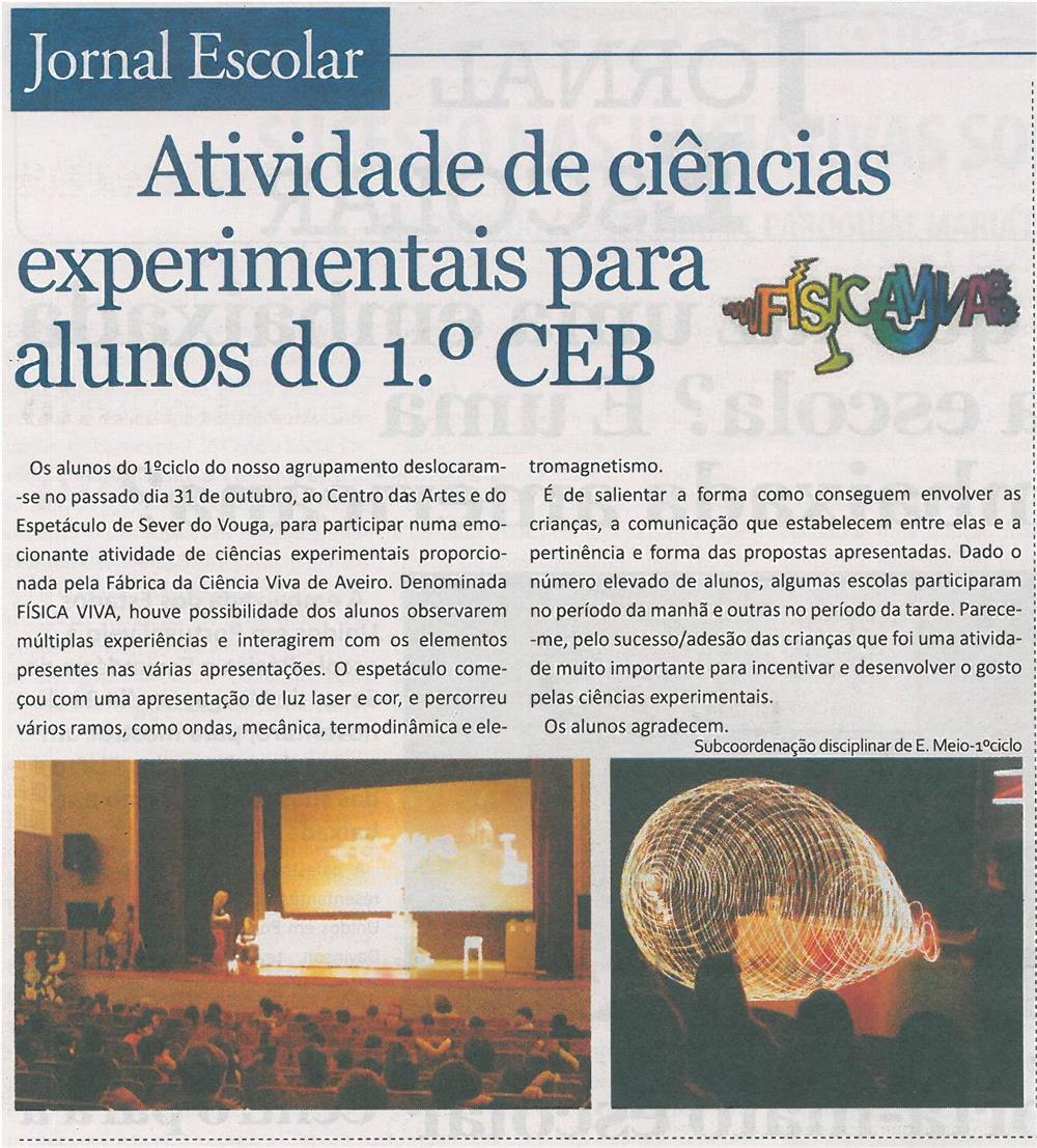 JE-dez13-p2-Atividade de ciências experimentais para alunos do 1.º CEB