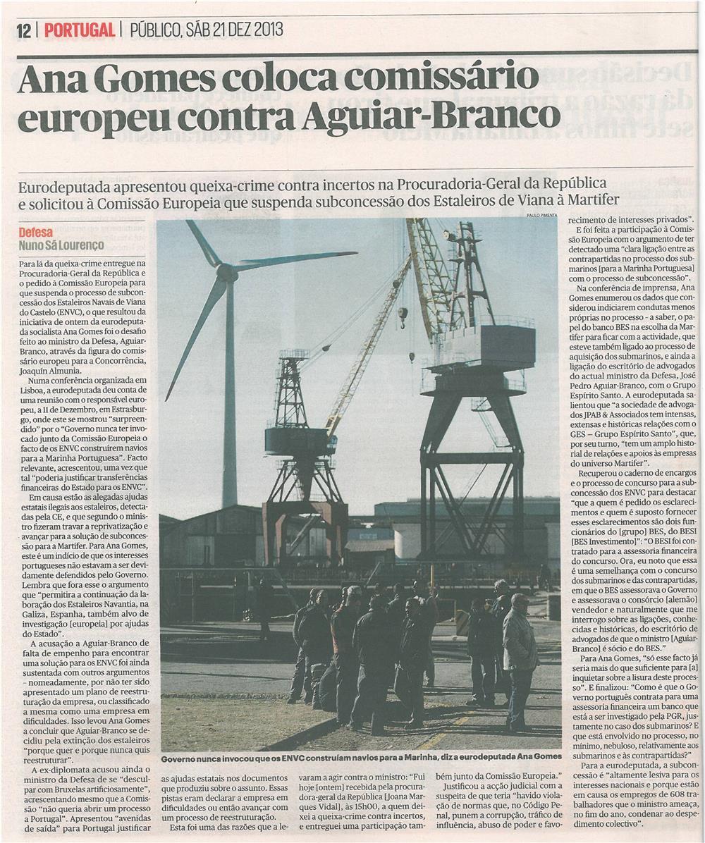 Público-21dez13-p12-Ana Gomes coloca comissário europeu contra Aguiar Branco