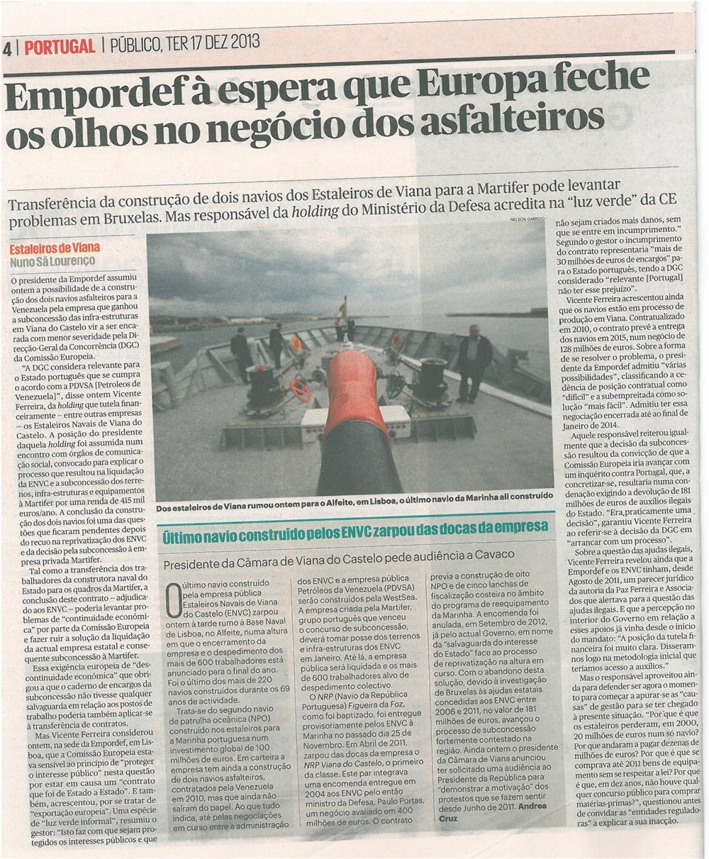 Público-17dez13-p4-Empordef à espera que Europa feche os olhos no negócio dos asfalteiros