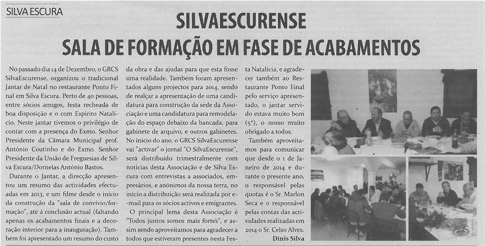 TV-fev14-p13-Silvaescurense : sala de formação em fase de acabamentos