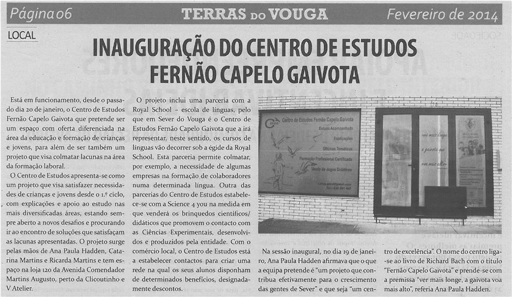 TV-fev14-p6-Inauguração do Centro de Estudos Fernão Capelo Gaivota