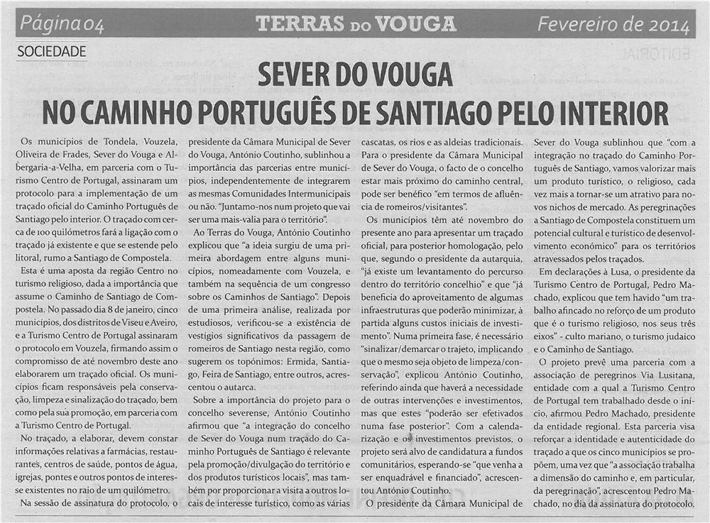 TV-fev14-p4-Sever do Vouga no Caminho Português de Santiago pelo Interior