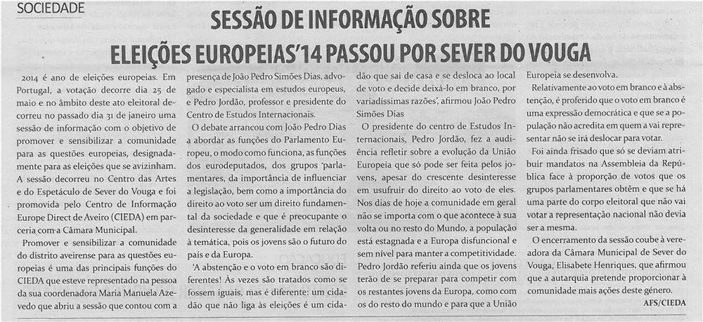 TV-mar14-p6-Sessão de informação sobre eleições europeias '14 passou por Sever do Vouga