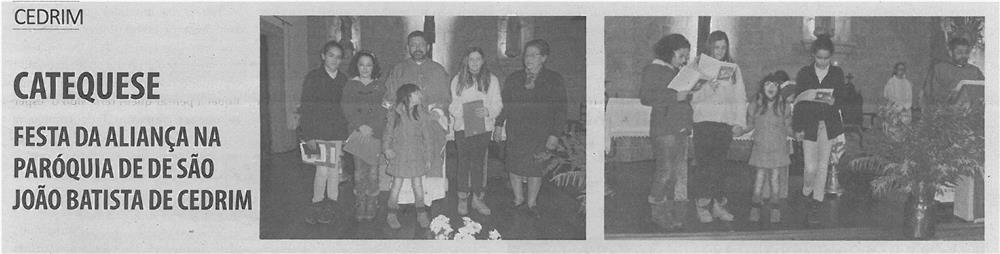 TV-mar14-p13-Catequese : Festa da Aliança na Paróquia de São João Batista de Cedrim
