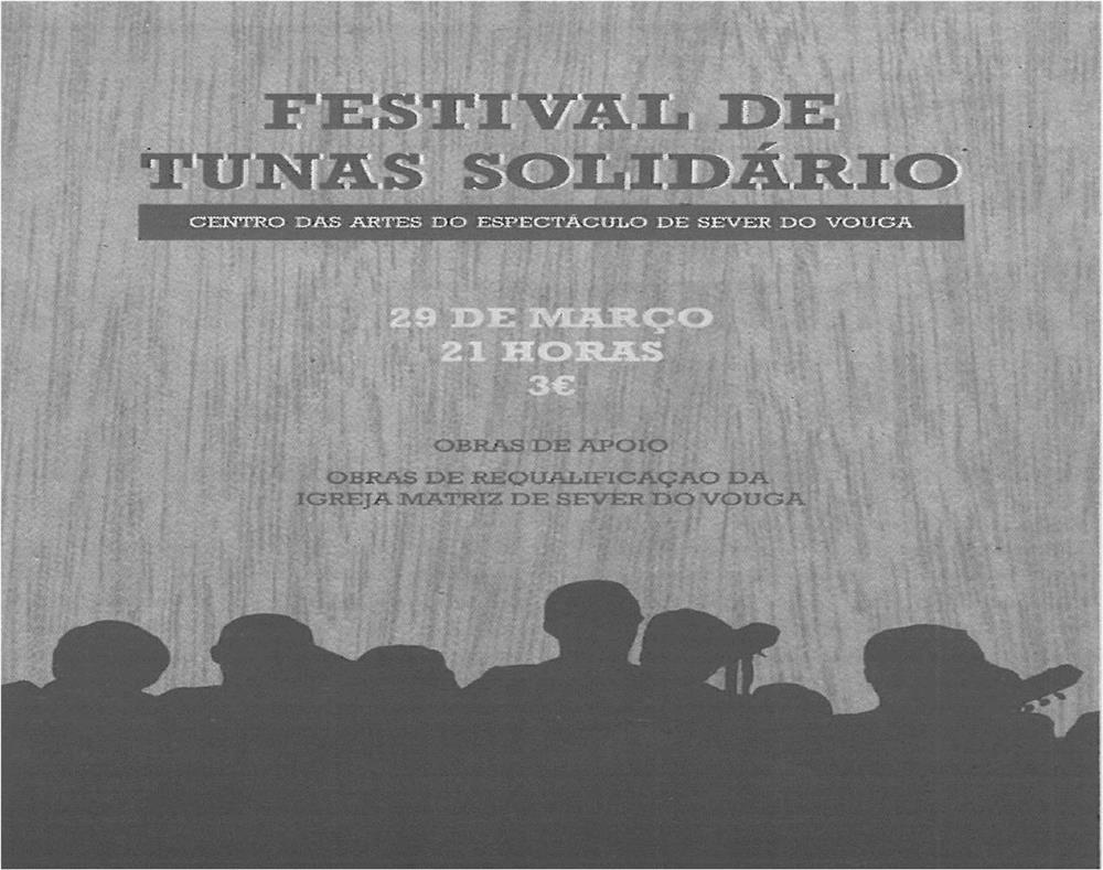 TV-mar14-p14-Festival de tunas solidário - obras de requalificação da Igreja Matriz de Sever do Vouga