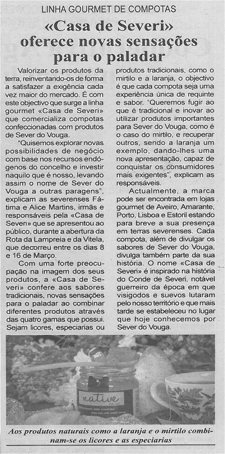 JPEG: BV-2ªmar'14-p6-Casa de Severi oferece novas sensações para o paladar : linha gourmet de compotas