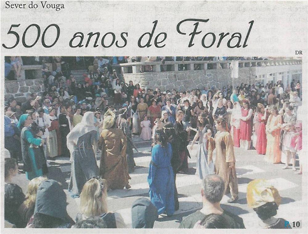 JPEG: EV-maio'14-p1-500 anos de Foral : Sever do Vouga