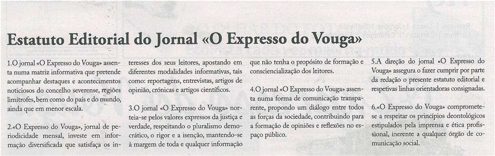 EV-maio'14-p2-Estatuto Editorial do Jornal O Expresso do Vouga
