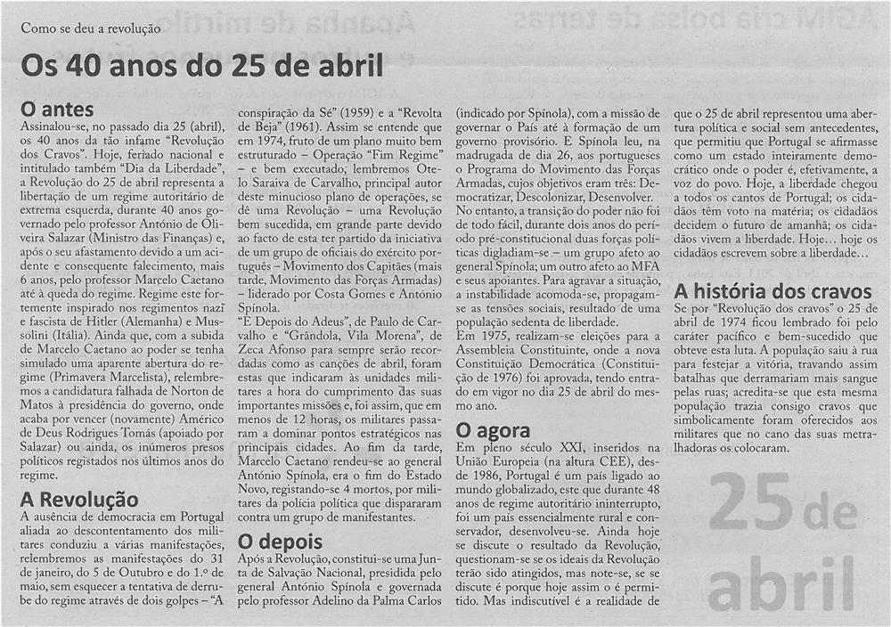 JPEG: EV-maio'14-p3-Os 40 anos do 25 de abril : como se deu a Revolução