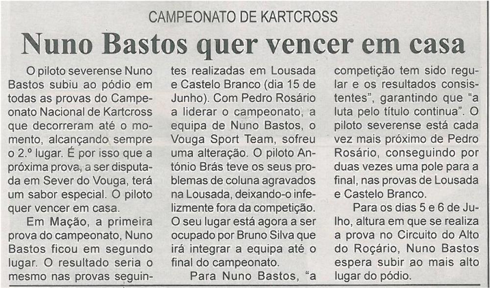 BV-2ªjun'14-p16-Nuno Bastos quer vencer em casa : campeonato de kartcross