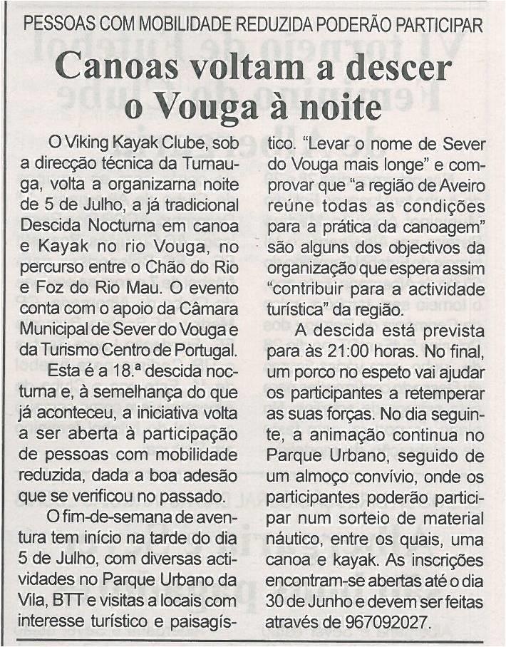 BV-2ªjun'14-p8-Canoas voltam a descer o Vouga à noite