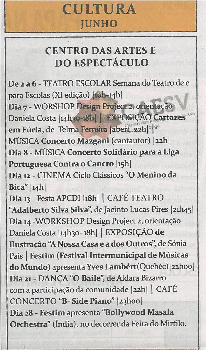 TV-jun14-p19-Cultura : junho : Centro das Artes e do Espetáculo