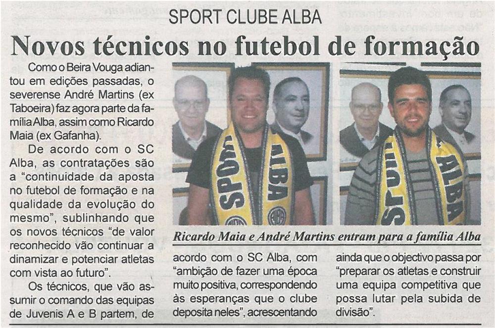 BV-1ªago'14-p9-Novos técnicos no futebol de formação : Sport Clube Alba - JPG