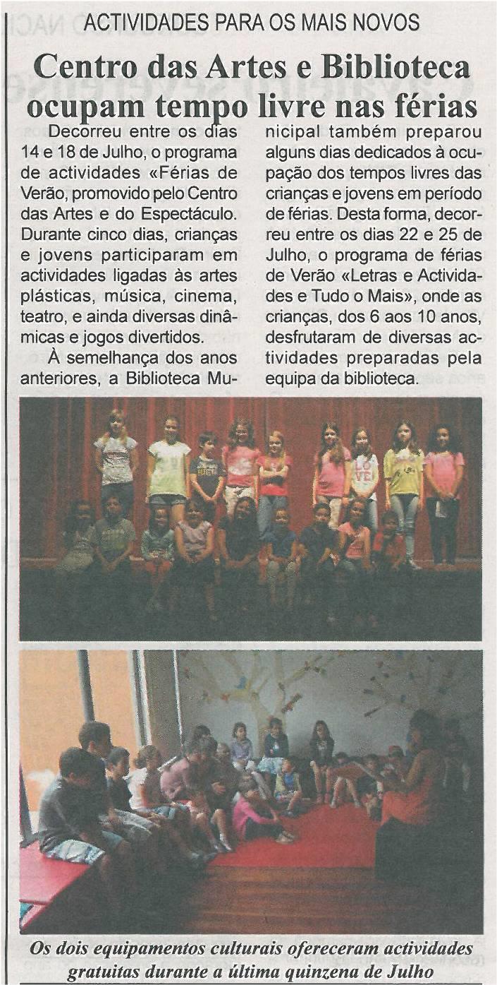 BV-1ªago'14-p8-Centro das Artes e Biblioteca ocupam tempo livre nas fárias : actividades para os mais novos - JPG