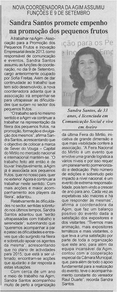 BV-2ªset'14-p6-Sandra Santos promete empenho na promoção dos pequenos frutos : nova coordenadora da AGIM assumiu funções em 9 de setembro.jpg