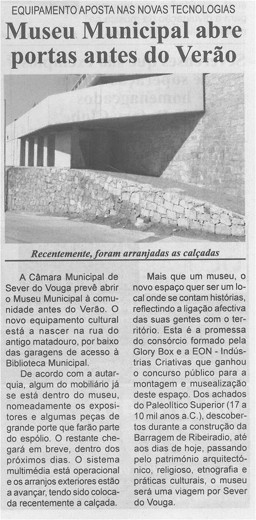 BV-2ªabr.'15-p.2-Museu Municipal abre portas antes do Verão - equipamento aposta nas novas tecnologias.jpg