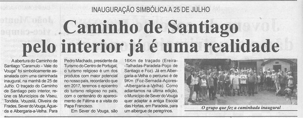 BV-1.ªago.'15-p.6-Caminho de Santiago pelo interior já é uma realidade : inauguração simbólica a 25 de julho.jpg