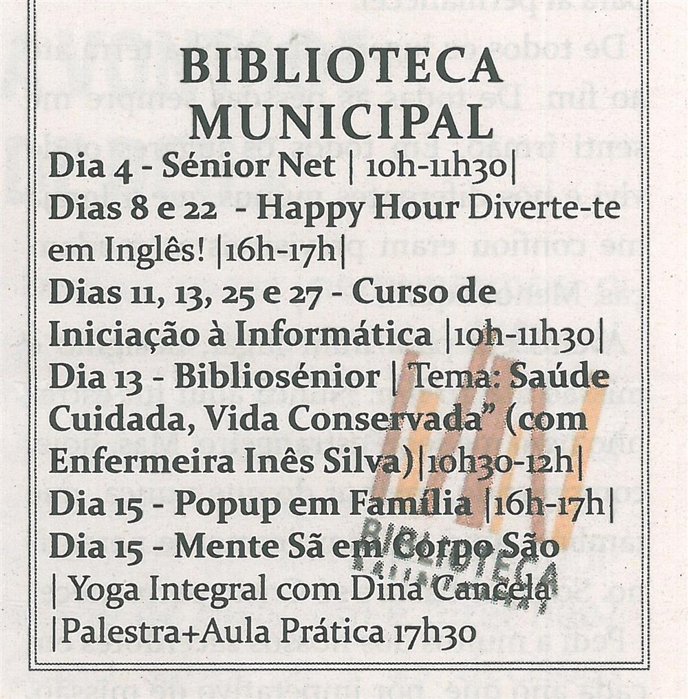 TV-mar.'14-p.19-Cultura em Sever : março : Biblioteca Municipal.jpg
