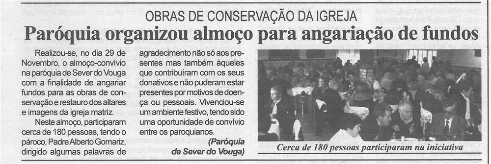BV-1.ªdez.'15-p.6-Paróquia organizou almoço para angariação de fundos : obras de conservação da igreja.jpg