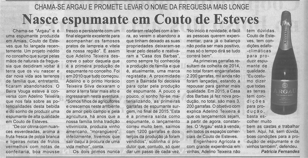BV-2.ªjan.'16-p.2-Nasce espumante em Couto de Esteves : chama-se Argau e promete levar o nome da freguesia mais longe.jpg