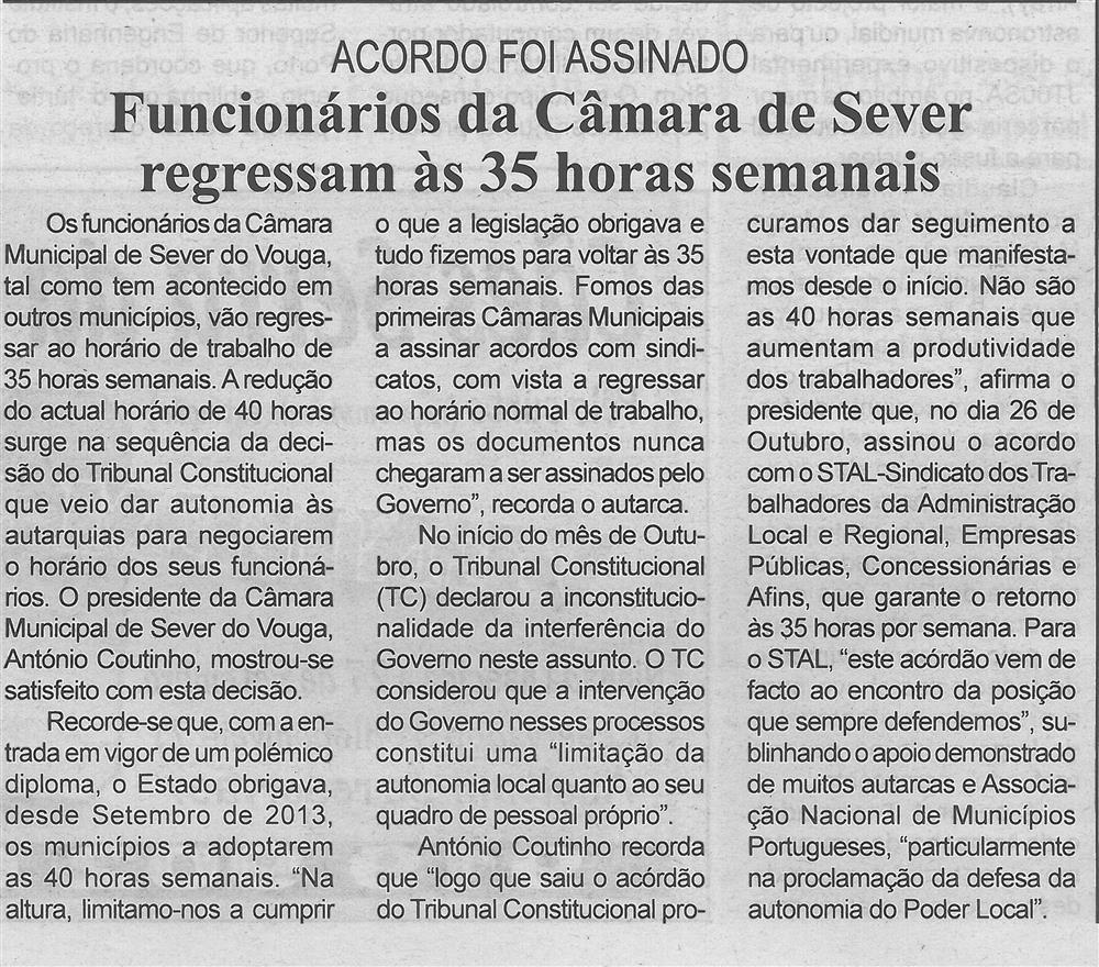 BV-1.ªnov.'15-p.4-Funcionários da Câmara de Sever regressam às 35 horas semanais : acordo foi assinado.jpg