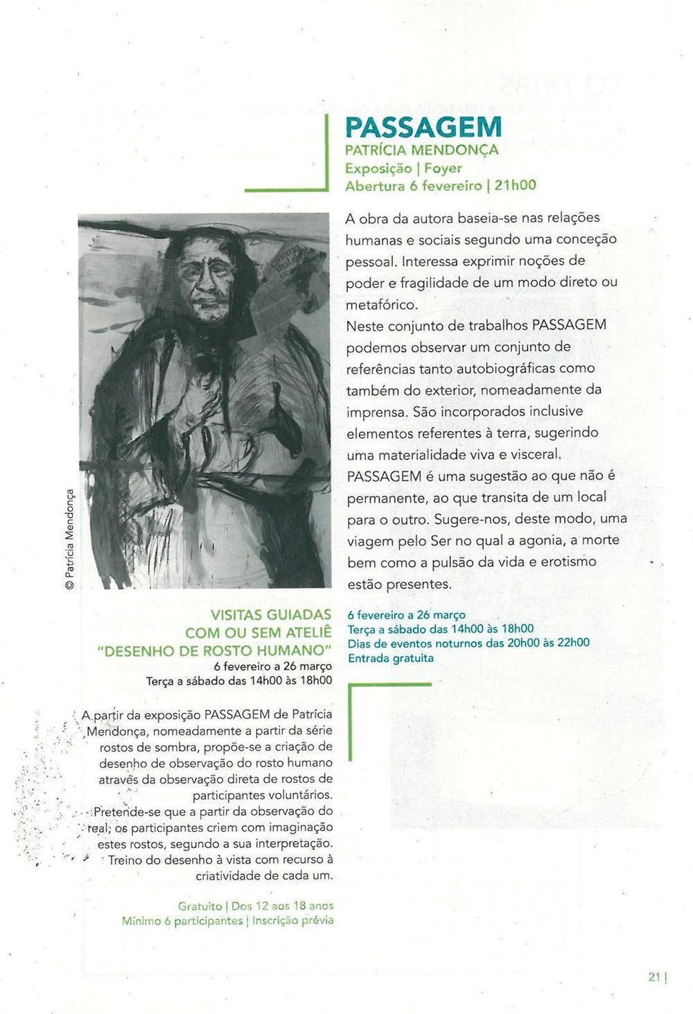 ACMSV-jan.,fev.,mar.'16-p.21-Passagem : Patrícia Mendonça : Desenho de Rosto Humano : visitas guiadas com ou sem ateliê.jpg