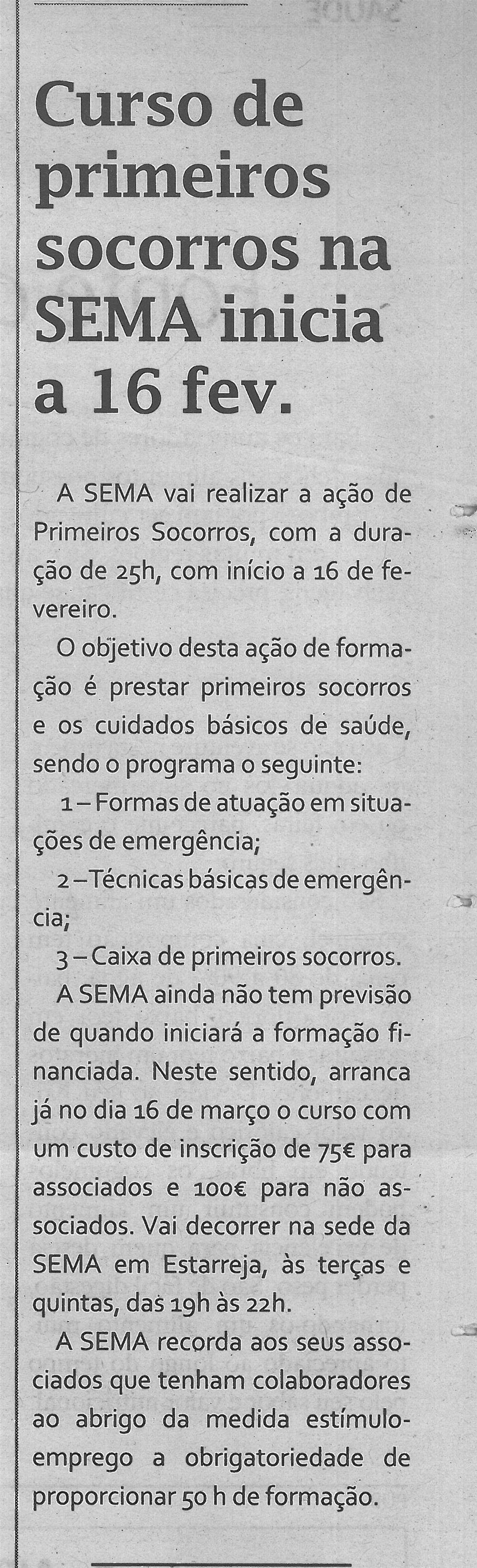 TV-fev.'16-p.13-Curso de primeiros socorros na SEMA inicia a 16 fevereiro.jpg