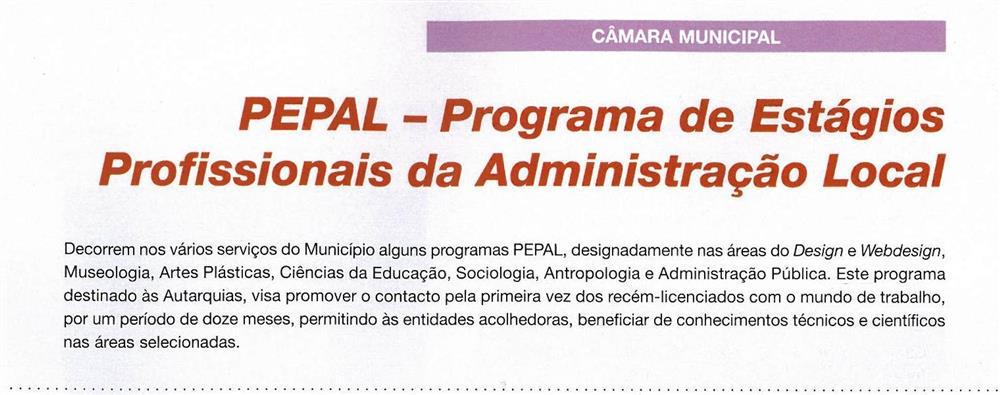 BoletimMunicipal-n.º32-nov.'15-p.5-PEPAL : Programa de Estágios Profissionais da Administração Local : Câmara Municipal.jpg