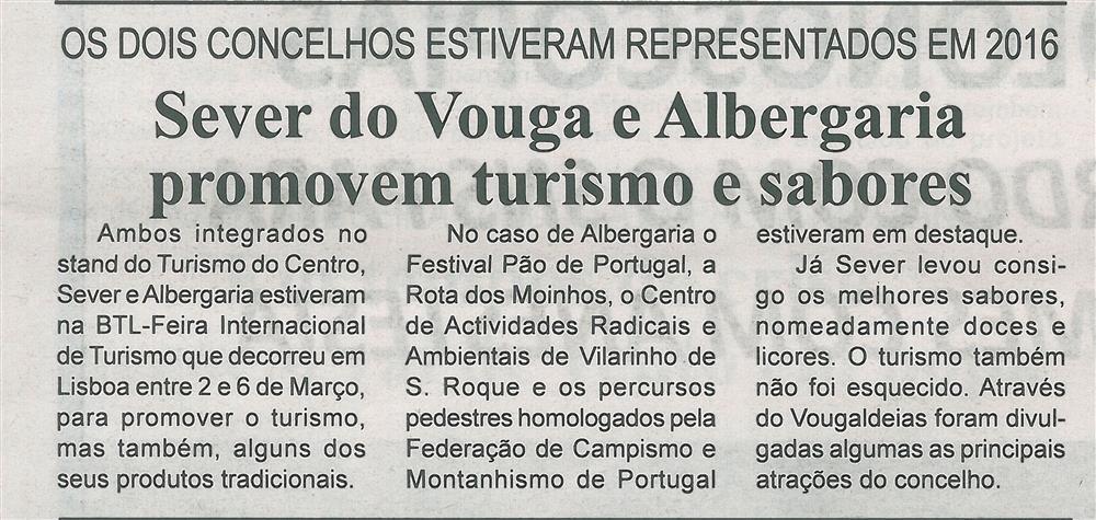 BV-2.ªMar.'16-p.7-Sever do Vouga e Albergaria promovem turismo e sabores : os dois concelhos estiveram representados em 2016.jpg