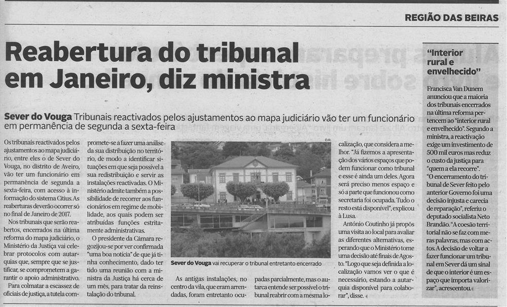 DA-26maio'16-p.19-Reabertura do Tribunal em Janeiro, diz Ministra.jpg