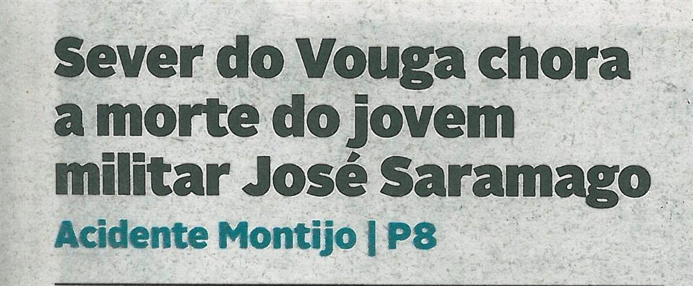 DA-14jul.'16-p.1-Sever do Vouga chora a morte do Jovem militar José Saramago.jpg