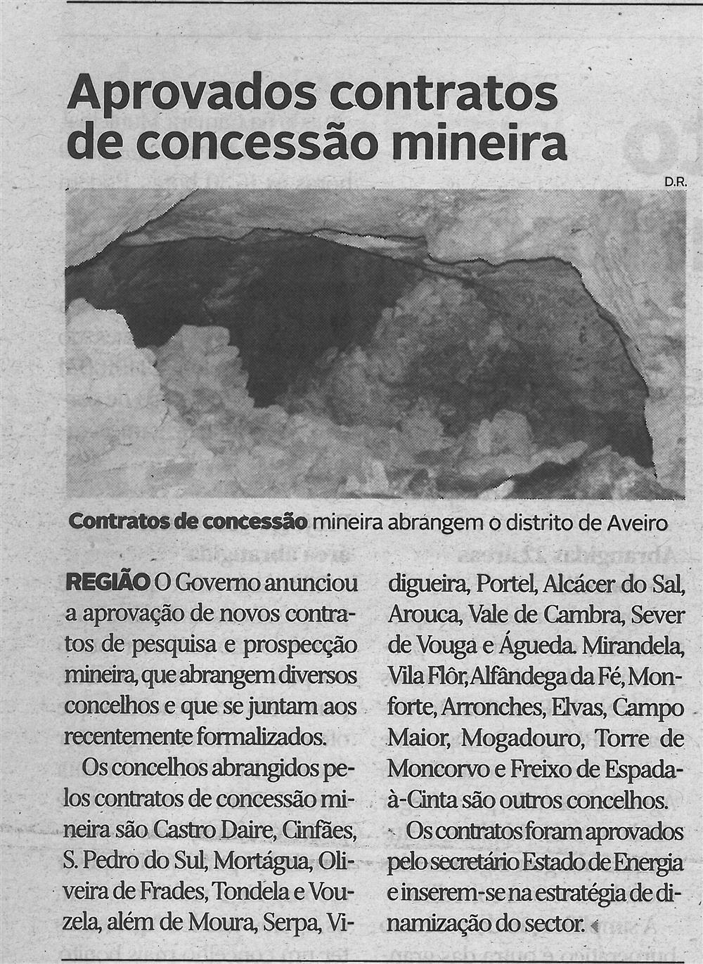 DA-27jul.'16-p.20-Aprovados contratos de concessão mineira : contratos de concessão mineira abrangem o Distrito de Aveiro.jpg