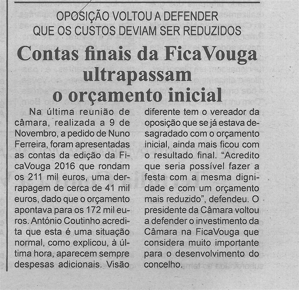 BV-2.ªnov.'16-p.5-Contas finais da FicaVouga ultrapassam o orçamento inicial : oposição voltou a defender que os custos deviam ser reduzidos.jpg