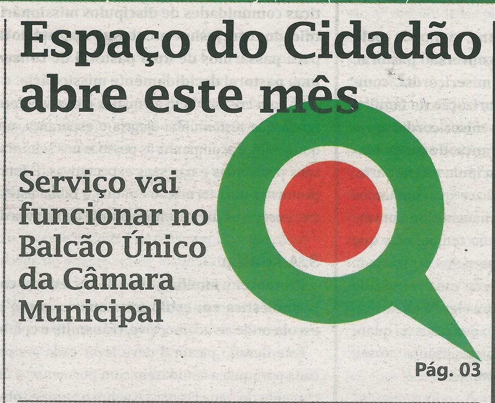 TV-dez.'16-p.1-Espaço do Cidadão abre este mês : serviço vai funcionar no Balcão Único da Câmara Municipal.jpg