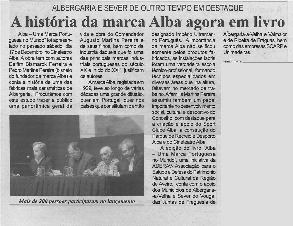BV-2.ªdez.'16-p.5-A história da marca Alba agora em livro : Albergaria e Sever de outro tempo em destaque.jpg