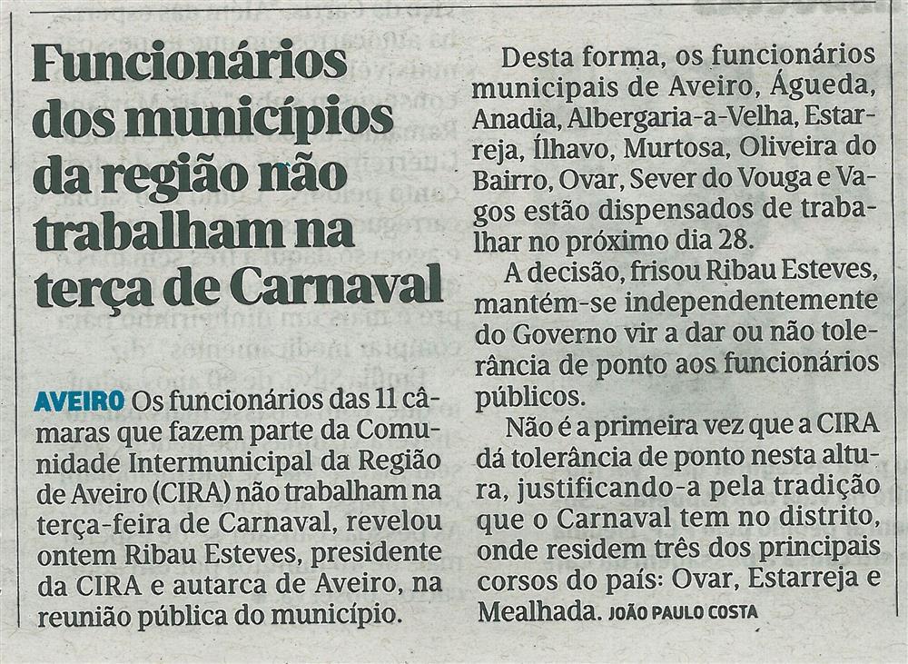 JN-02fev.'17-p.27-Funcionários dos municípios da região não trabalham na terça de Carnaval : Aveiro.jpg