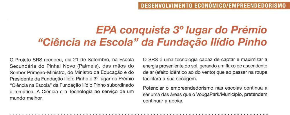 BoletimMunicipal-n.º 33-nov.'16-p.5-EPA conquista 3.º lugar do Prémio Ciência na Escola da fundação Ilídio Pinho.jpg