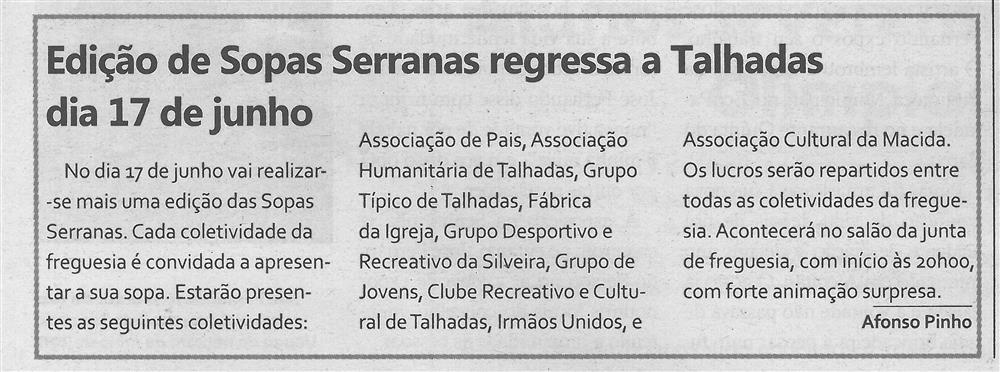 TV-jun.'17-p.9-Edição de Sopas Serranas regressa a Talhadas dia 17 de junho.jpg