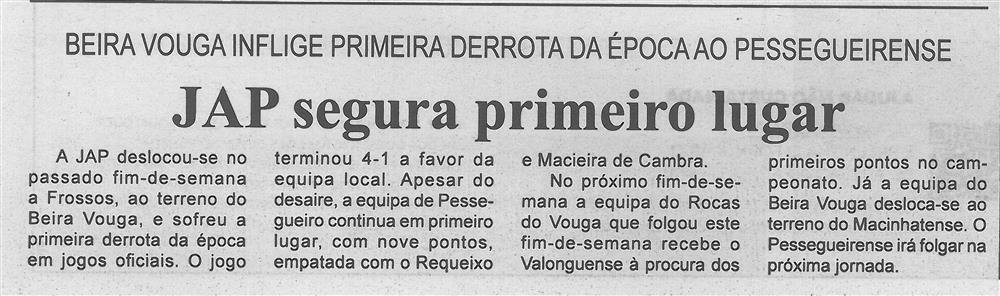 BV-1.ªnov.'17-p.7-JAP segura primeiro lugar : Beira Vouga inflige primeira derrota da época ao Pessegueirense.jpg
