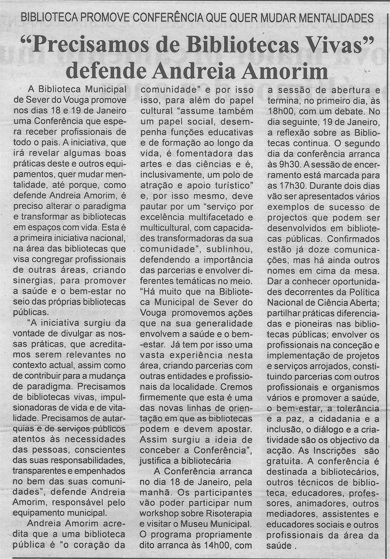 BV-2.ªdez.'17-p.4-Precisamos de Bibliotecas Vivas, defende Andreia Amorim : Biblioteca promove conferência que quer mudar mentalidades.jpg