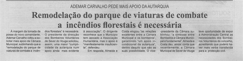 BV-2.ªmaio.'18-p.5-Remodelação do parque de viaturas de combate a incêndios florestais é necessária : Ademar Carvalho pede mais apoio da autarquia.jpg