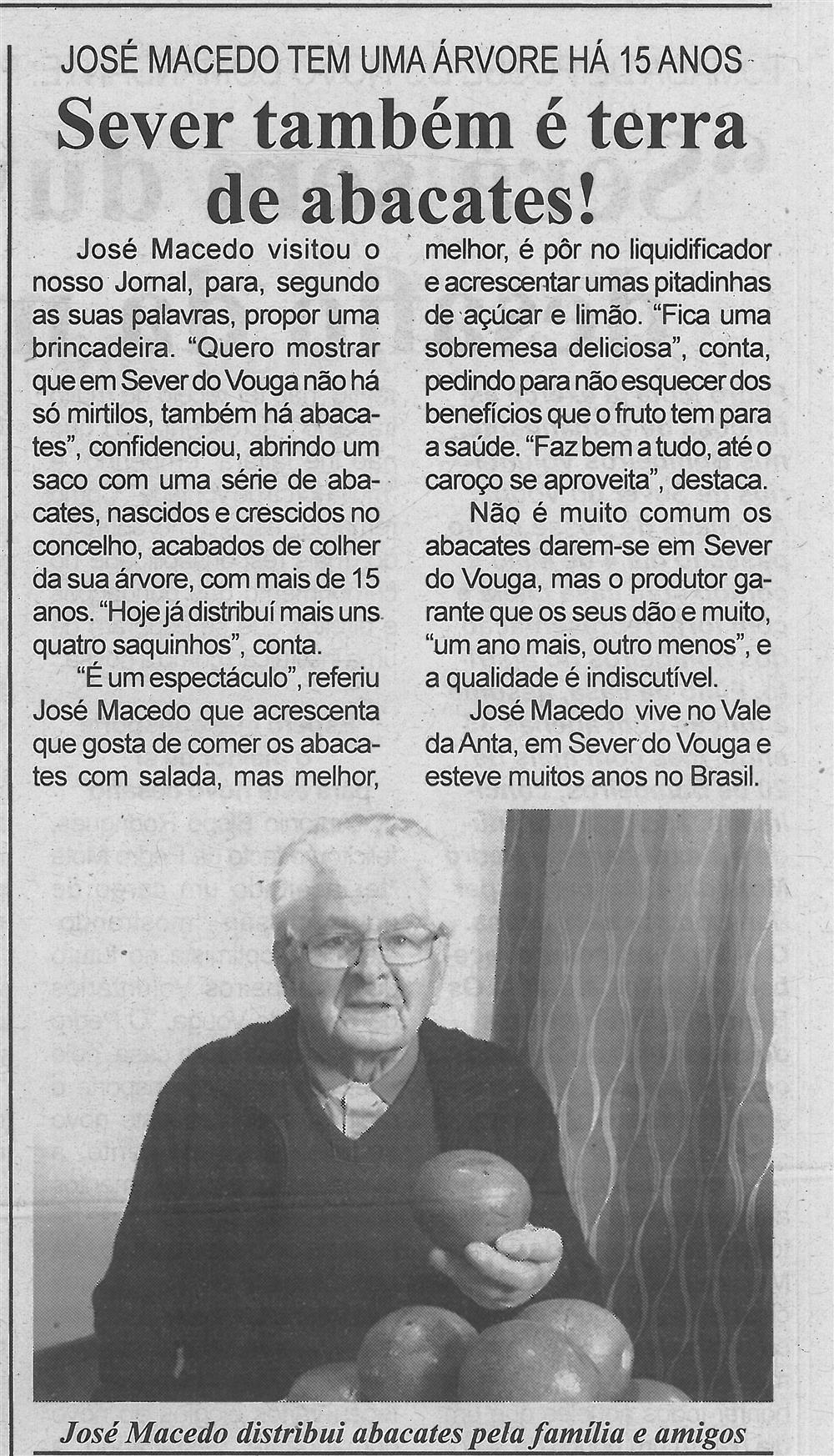 BV-2.ªmaio.'18-p.6-Sever também é terra de abacates : José Macedo tem uma árvore há 15 anos.jpg