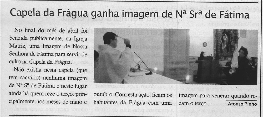 TV-jun'18-p.14-Paróquias : Paróquia de São Mamede : Talhadas : Capela da Frágua ganha imagem de N.ª Sr.ª de Fátima.jpg